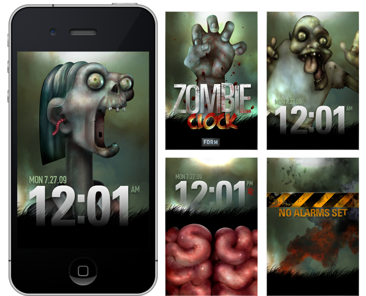 Zombie Clock iPhone App