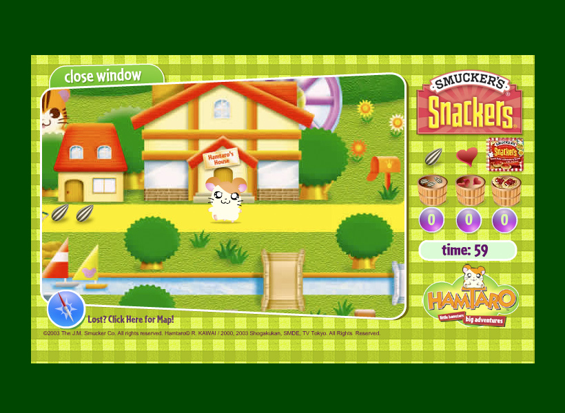 Smucker's Hamtaro Game
