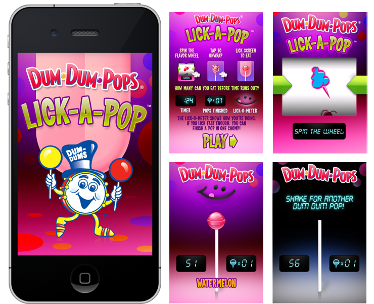 Dum Dum Pops iPhone App